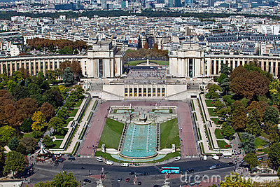 The Trocadero in Paris, France