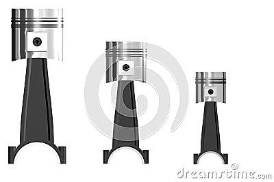 Trois pistons