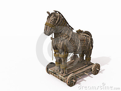 Trojan Horse on white