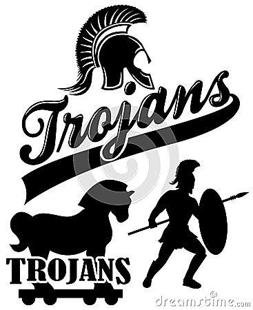 trojan team mascot  eps royalty free stock photography Red Trojan Head Logo Red Trojan Head Logo