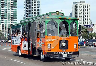 Trolley Redaktionell Arkivbild