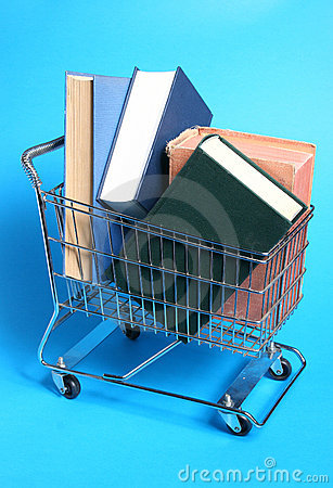 Trolley with books