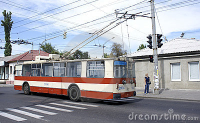 Trolley bus Editorial Image