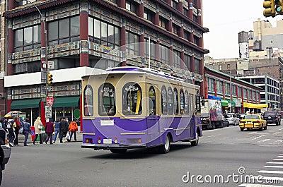 Trolley Car Chinatown NYC