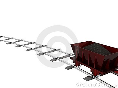 Trolley with coal