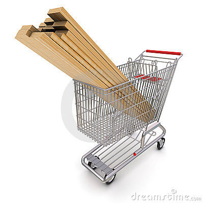 Trolley full of lumber