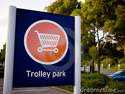 Trolley Park sign