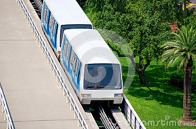Trolley people mover tram at airport