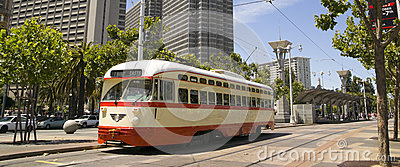 Panoramic Photo Trolley in San Francisco Street