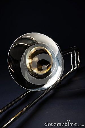 Trombone Isolated on Black Background