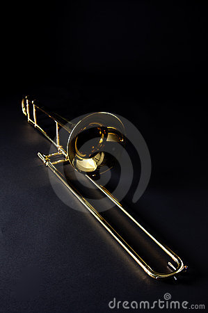 Trombone Isolated Black Bk