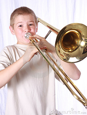 Free Trombone Player 11 Stock Image - 6873171