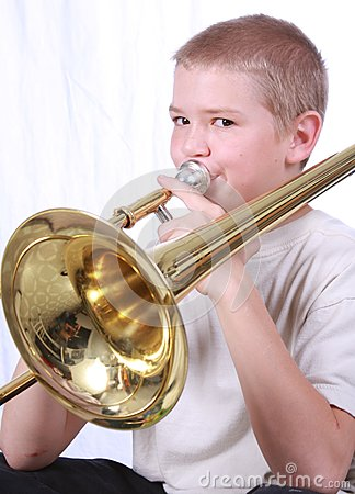 Trombone Player 2 Royalty Free Stock Image Image 6872676