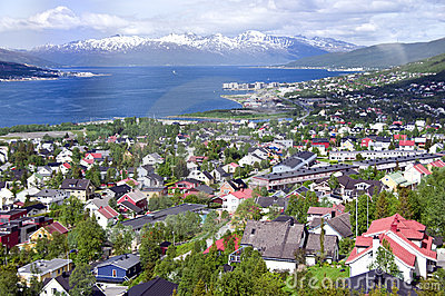 Tromso city aerial