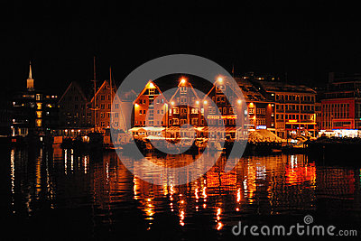 Tromso city by night Editorial Photography