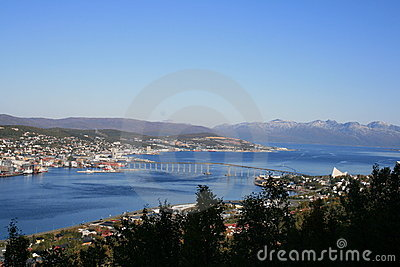 Tromso from the hill