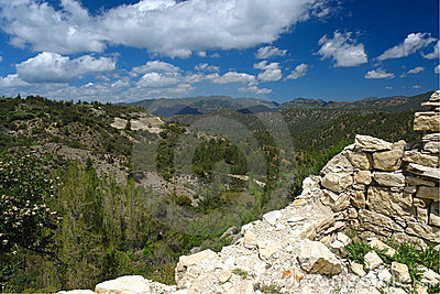 Troodos mountains in crete