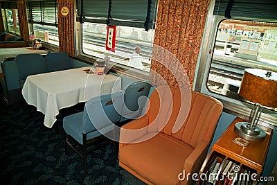 Troop Train dining car Editorial Photo