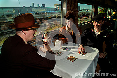 Troop Train Dinner Table Editorial Photo