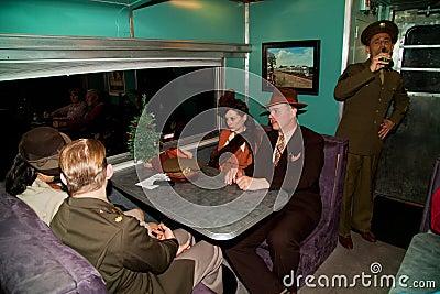 Troop Train passengers Editorial Image