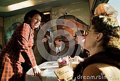 Troop Train people  Editorial Photo