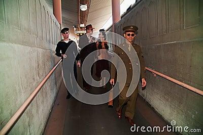 Troop Train reenactment  Editorial Stock Image