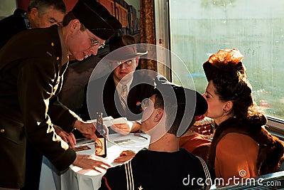 Troop Train reenactment Editorial Photo