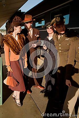 Troop Train reenactors  Editorial Photo