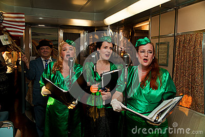 Troop Train singers Editorial Photography