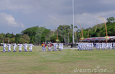 Troops Marching, Indonesia Editorial Photo