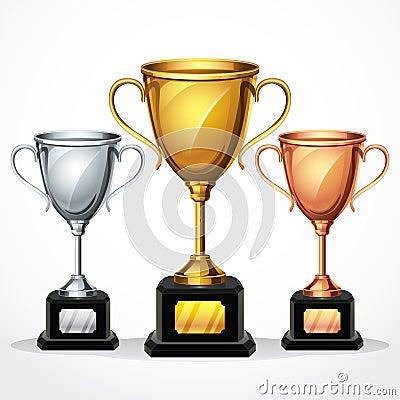 Trophy cups.  illustration