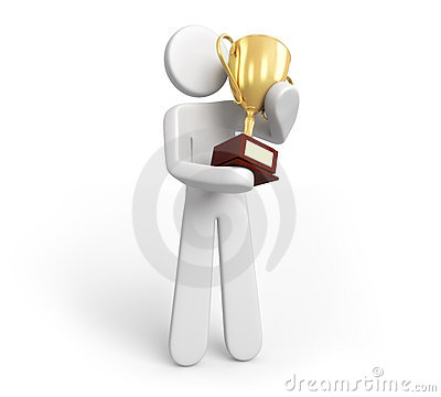 Trophy Gold Stock Image - Image: 21219071