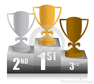 Trophy podium illustration design