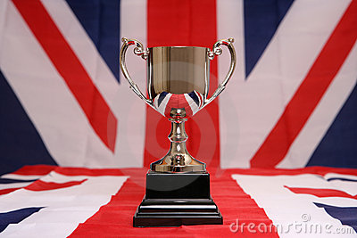 Trophy on union jack