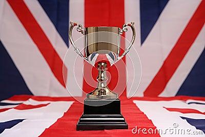Trophy on union jack