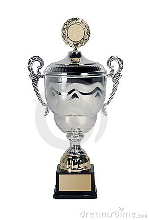 Trophy on white