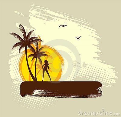 Free Tropic Back Stock Image - 20040961