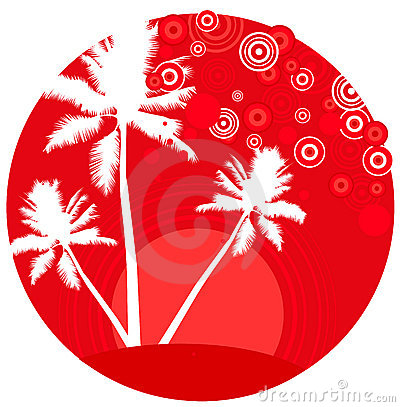 Tropic beach palms