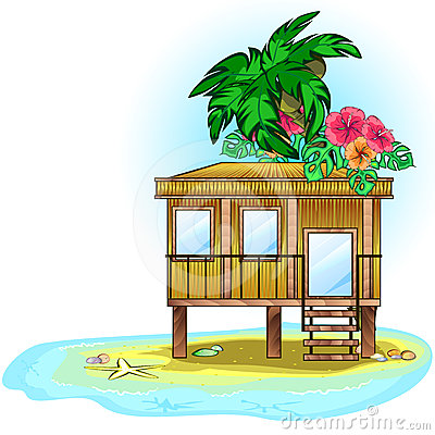 Free Tropic Bungalow Royalty Free Stock Photography - 24319057
