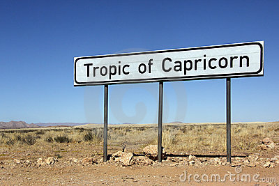 Tropic of Capricorn Sign - Namibia