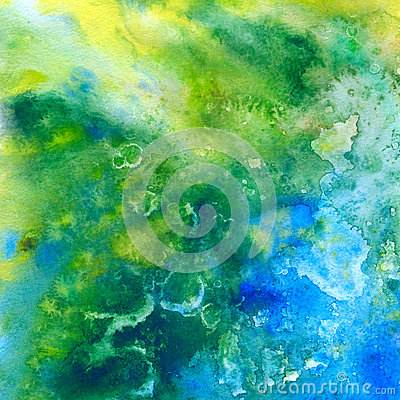 Tropic sea. Abstract watercolor background