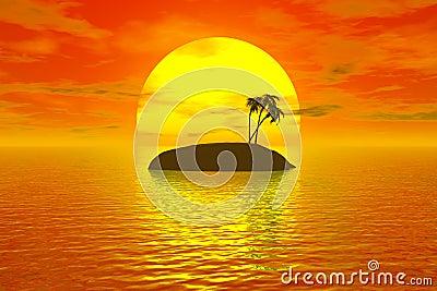 Tropic sunset