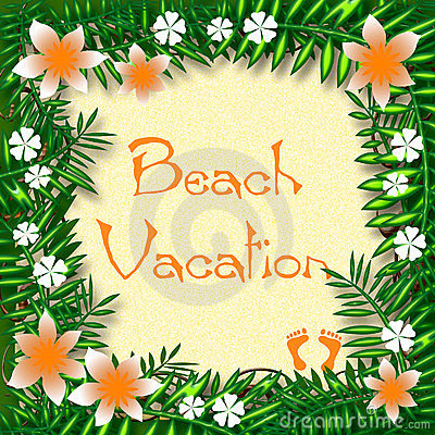 Tropic vacation poster