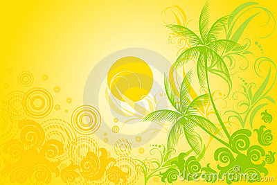 Tropic vector background