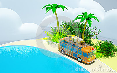 Tropical adventure by bus