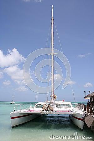 Tropical Aruba sail boat
