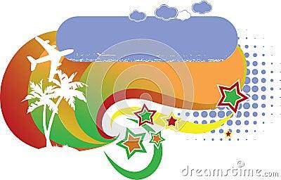 Tropical Avia Vacation Logo