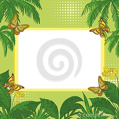Free Tropical Background Royalty Free Stock Images - 25479419