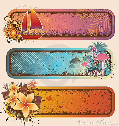 Free Tropical Banners Set Royalty Free Stock Photo - 19132045