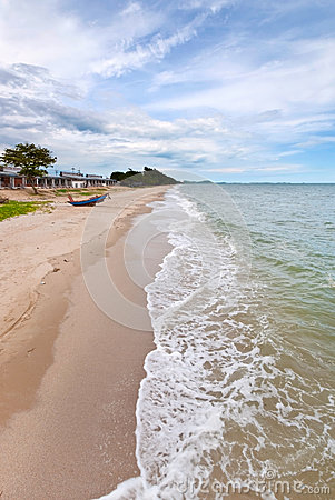 Tropical beach at beautiful